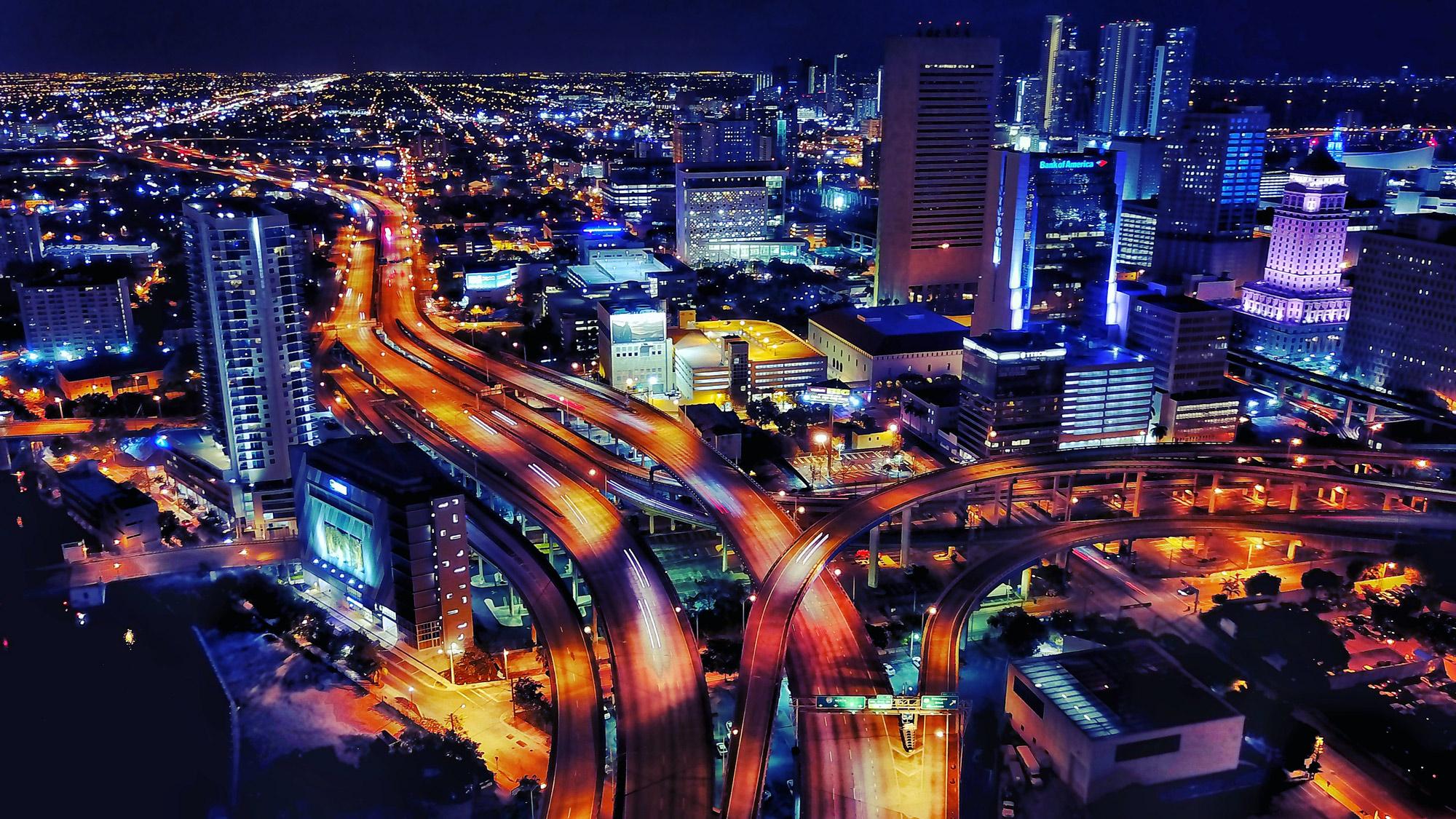 تصویربرداری هوایی در شب