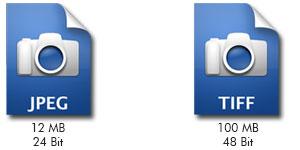 مقایسه TIFF و JPEG
