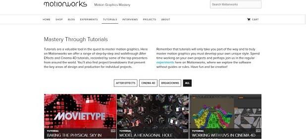 وب سایت آموزش موشن گرافیک